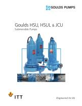 Goulds HSU, HSUL &amp; JCU Submersible Pumps