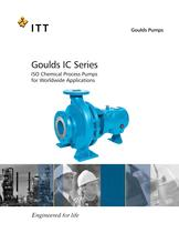 Goulds IC Series ISO Chemical Process Pumps for Worldwide Applications
