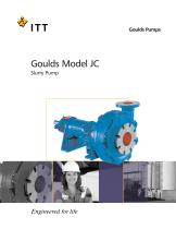 Goulds Model JC Slurry Pump