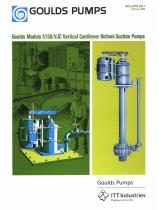 Goulds Models 5150/VJC Vertical Cantilever Bottom Suction Pumps
