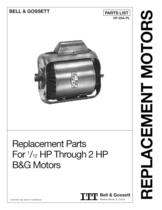 1/12 HP through 2 HP B&G Motor Parts