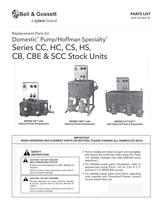 Domestic or Hoffman Condensate Units Series SCC, CC, HC, CS, HS, CB, CBE