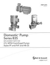 Domestic Series B35 2'NPSH, Styles PF and PVF