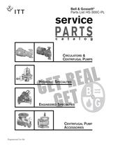 Service Parts Catalog-Hydronic Specialties, Engineereed Specialties, Centrifugal Pump Accessories