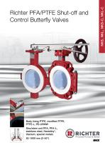 Richter PFA/PTFE Shut-Off and Control Butterfly Valves