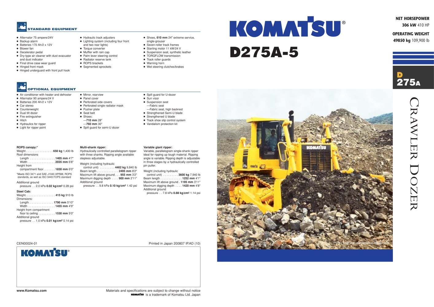 D275a 5 Komatsu Construction And Mining Equipment Pdf Catalogs Two Engines Alternators Using Thedual Alternator Controller 1 6 Pages