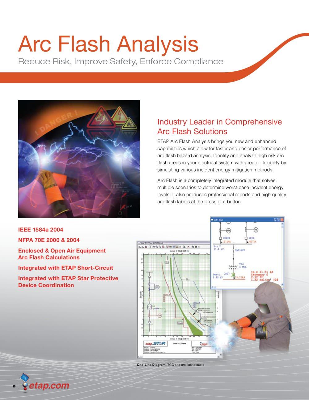 Arc Flash Analysis Brochure Etap Pdf Catalogs Technical Shortcircuit 1 4 Pages