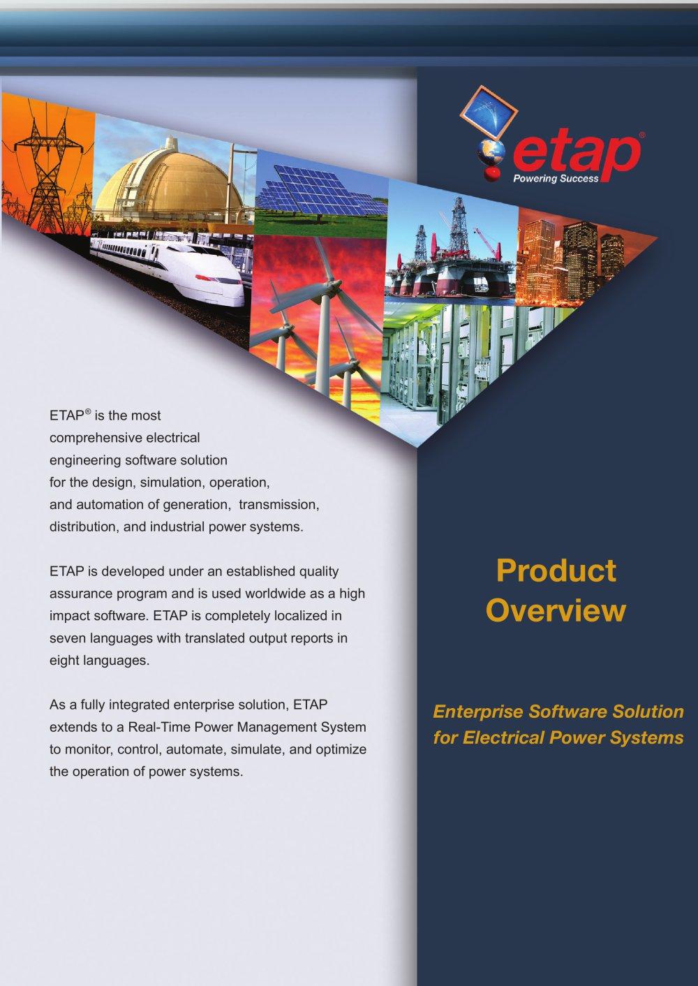 enterprise software solution for electrical power systems etap