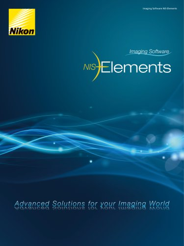 NIS-Elements - Nikon Metrology - PDF Catalogs | Technical