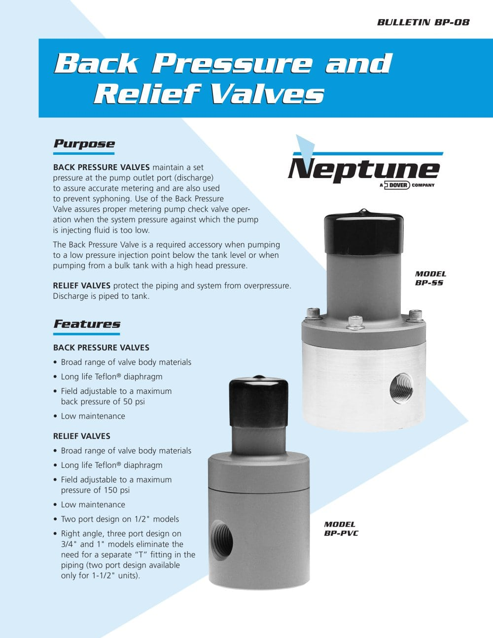 Accessories back pressure relief valves neptune chemical pump accessories back pressure relief valves 1 3 pages ccuart Image collections