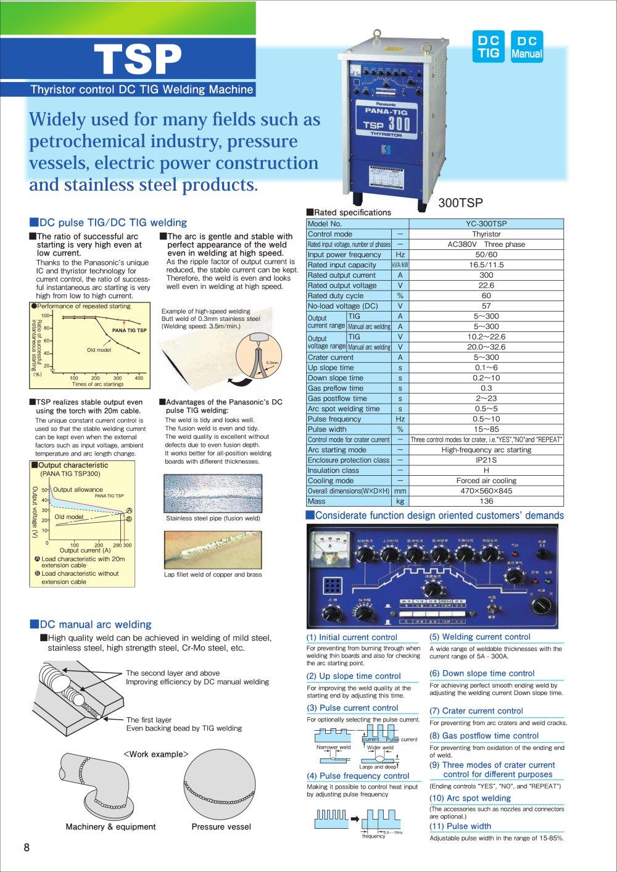 Tsp Panasonic Industrial Robot Welding Pdf Catalogue Mig Welder Parts Torch 1 Pages