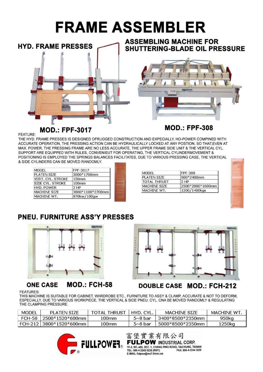 FRAME ASSEMBLER - Fulpow - PDF Catalogue | Technical Documentation ...