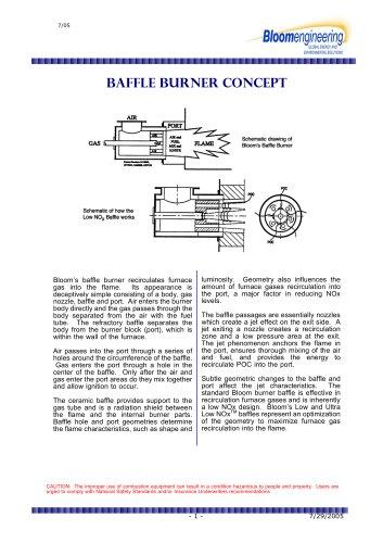 Baffle Burner Concept