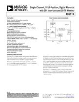 AD5174:  Single-Channel, 1024-Position, Digital Rheostat ...