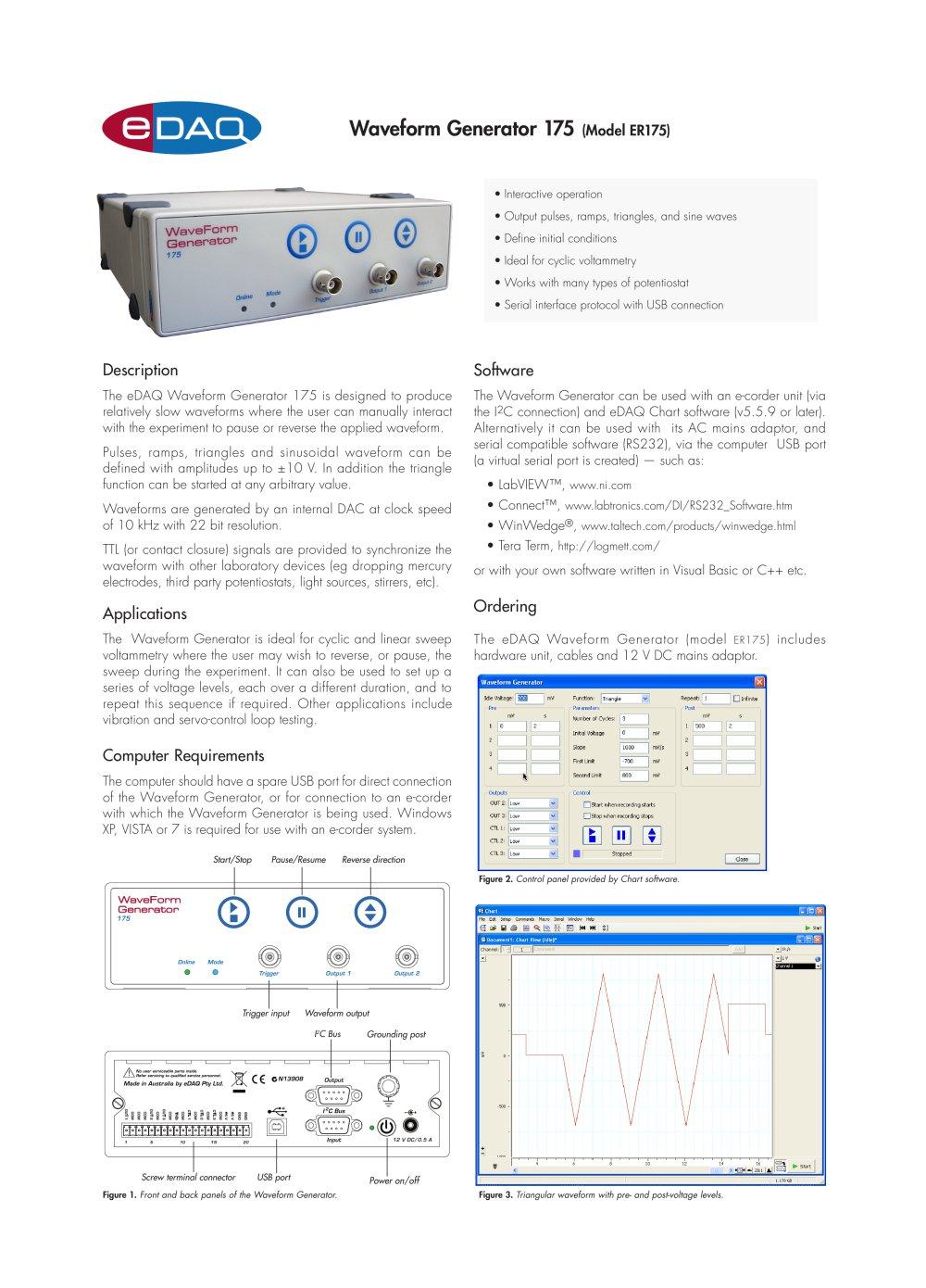 Er175 Waveform Generator Edaq Pdf Catalogue Technical Triangular Wave 1 4 Pages