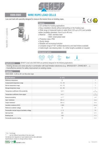 e9fc19873a23f9 5500-5505 : WIRE ROPE LOAD CELLS - SENSY S.A. - PDF Catalogs ...