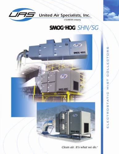 Machine / Ceiling Mount Smog-Hog Mist Collector - SHN / SG