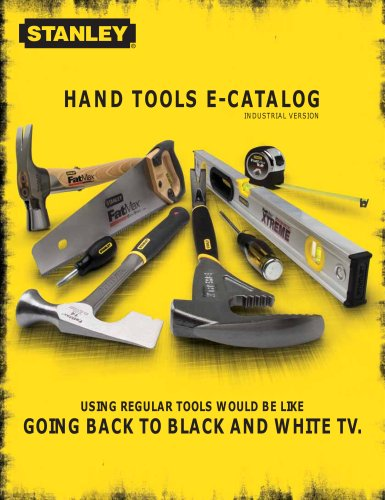 Stanley® Hand Tools Industrial Catalog
