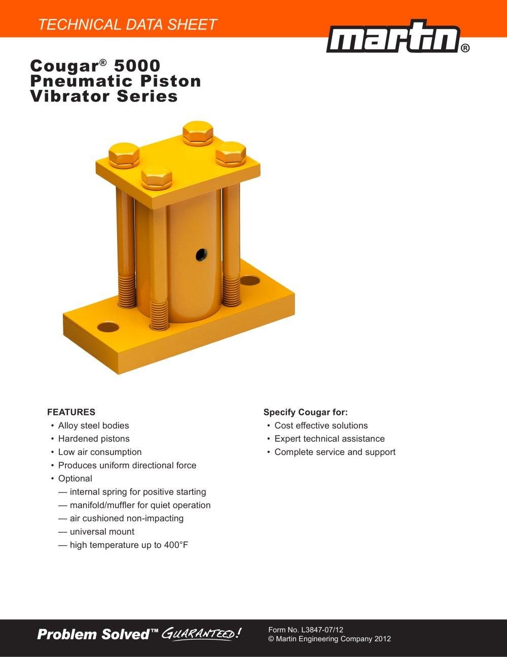 Cougar® 5000 Series Piston Vibrators - 1 / 2 Pages