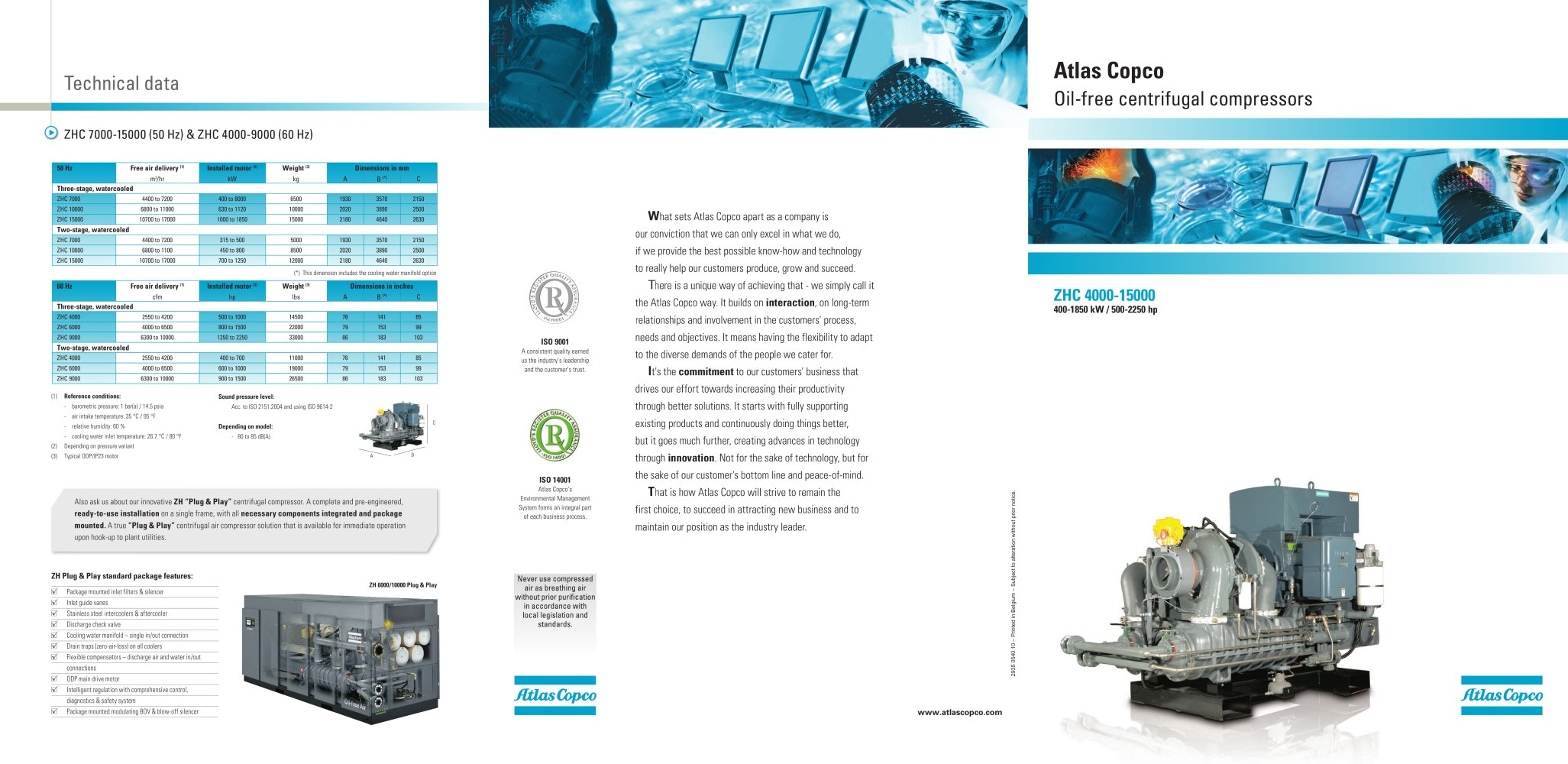 ZH: Oil-free centrifugal compressors - 1 / 2 Pages