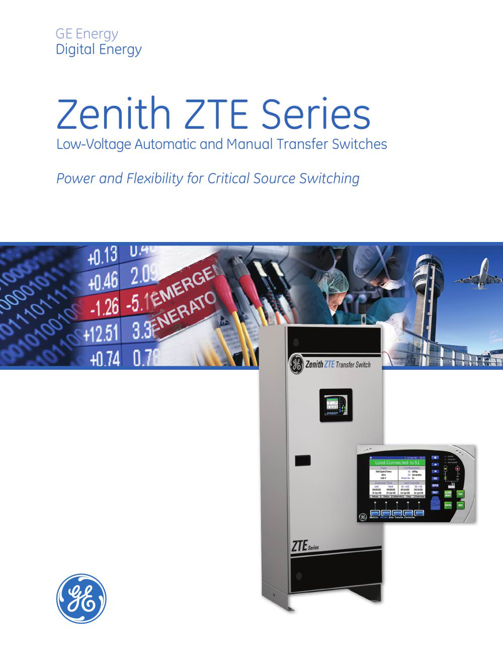 Zenith Zte Series Low Voltage Automatic Manual Transfer Switche Switch 1 24 Pages