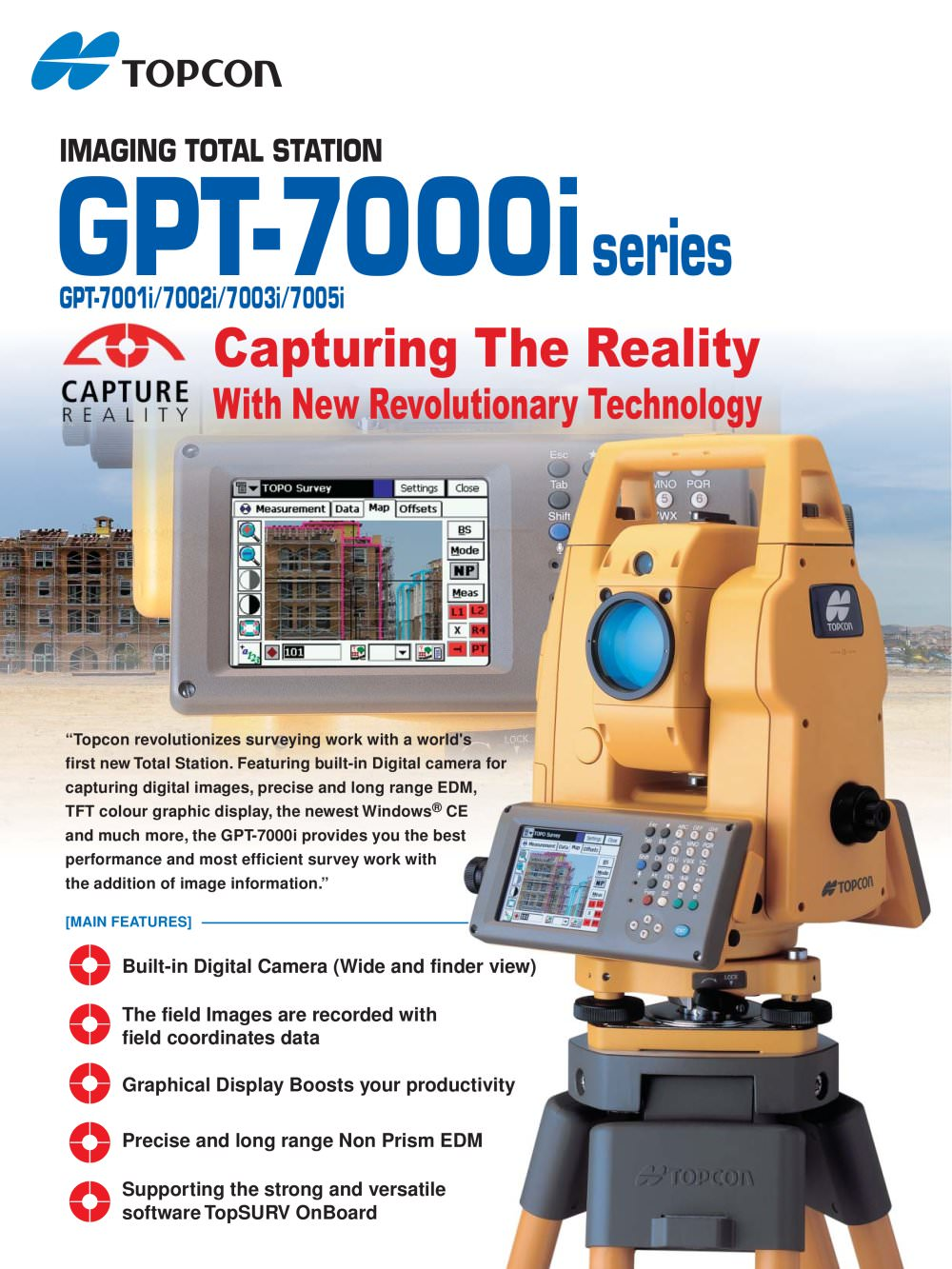 gpt 7000i imaging total station topcon pdf catalogue technical rh pdf directindustry com Topcon Instruction Manuals Topcon Total Station S6