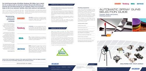 Finishing Brands Ceramic Plastic Cosmetic Brochure