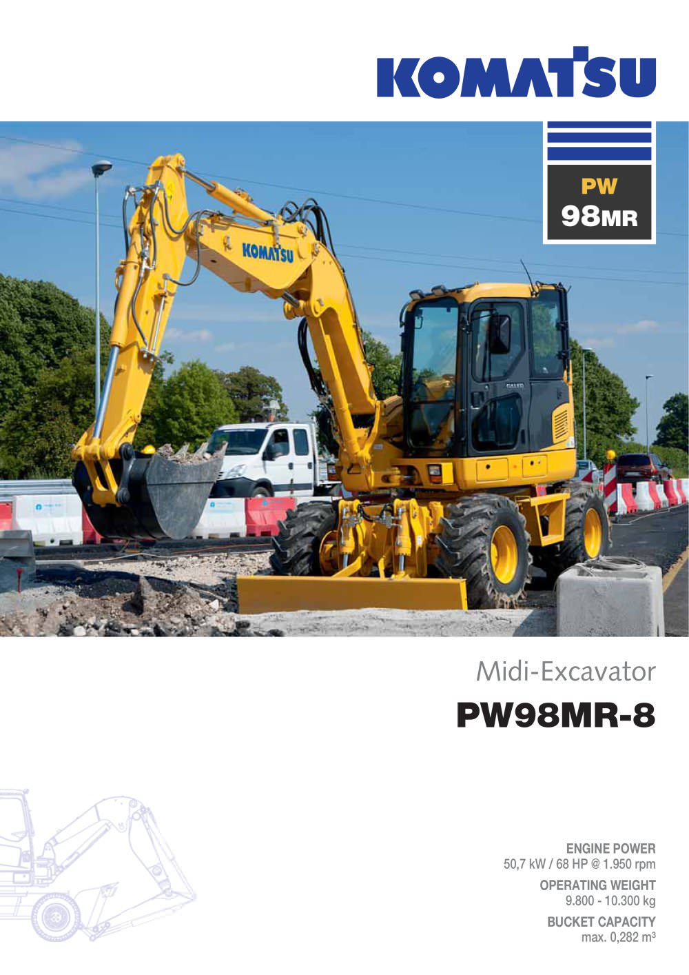 Pw98mr 8 Komatsu Europe Pdf Catalogue Technical Documentation Sk 714 Wiring Diagram 1 12 Pages