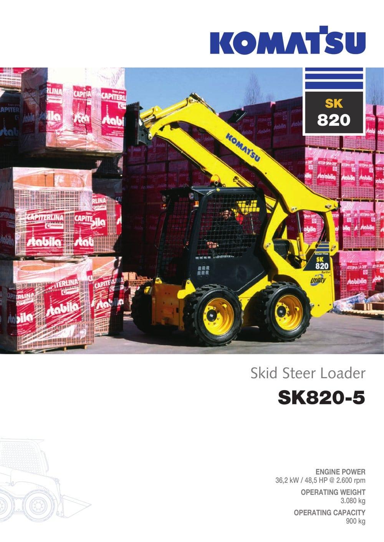Skid Steer Loaders SK820-5 - 1 / 12 Pages