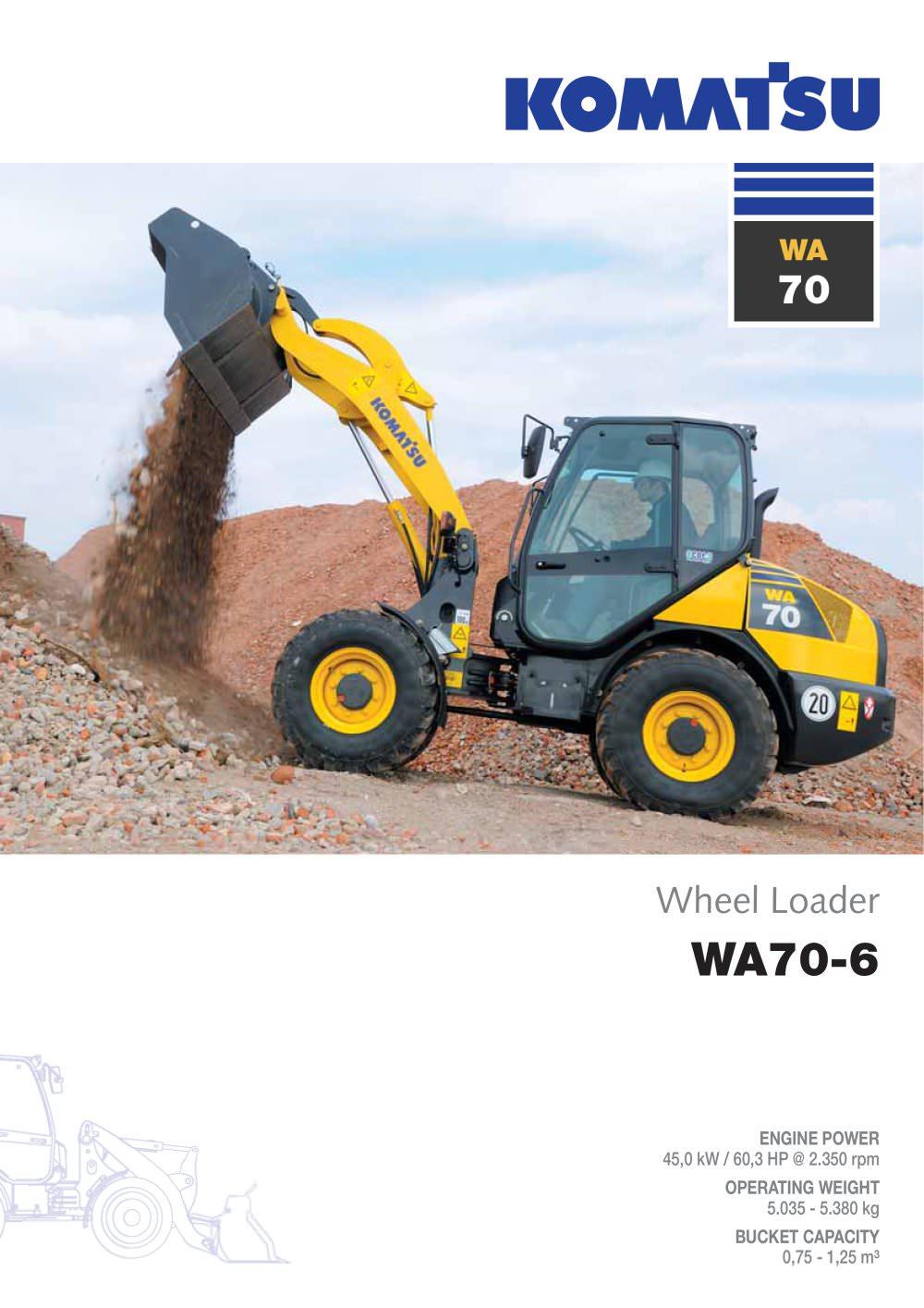 Wa70 6 Komatsu Europe Pdf Catalogue Technical Documentation Sk 714 Wiring Diagram 1 12 Pages