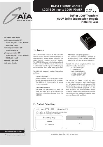 Front-end Protection Module LGDS-300 Series