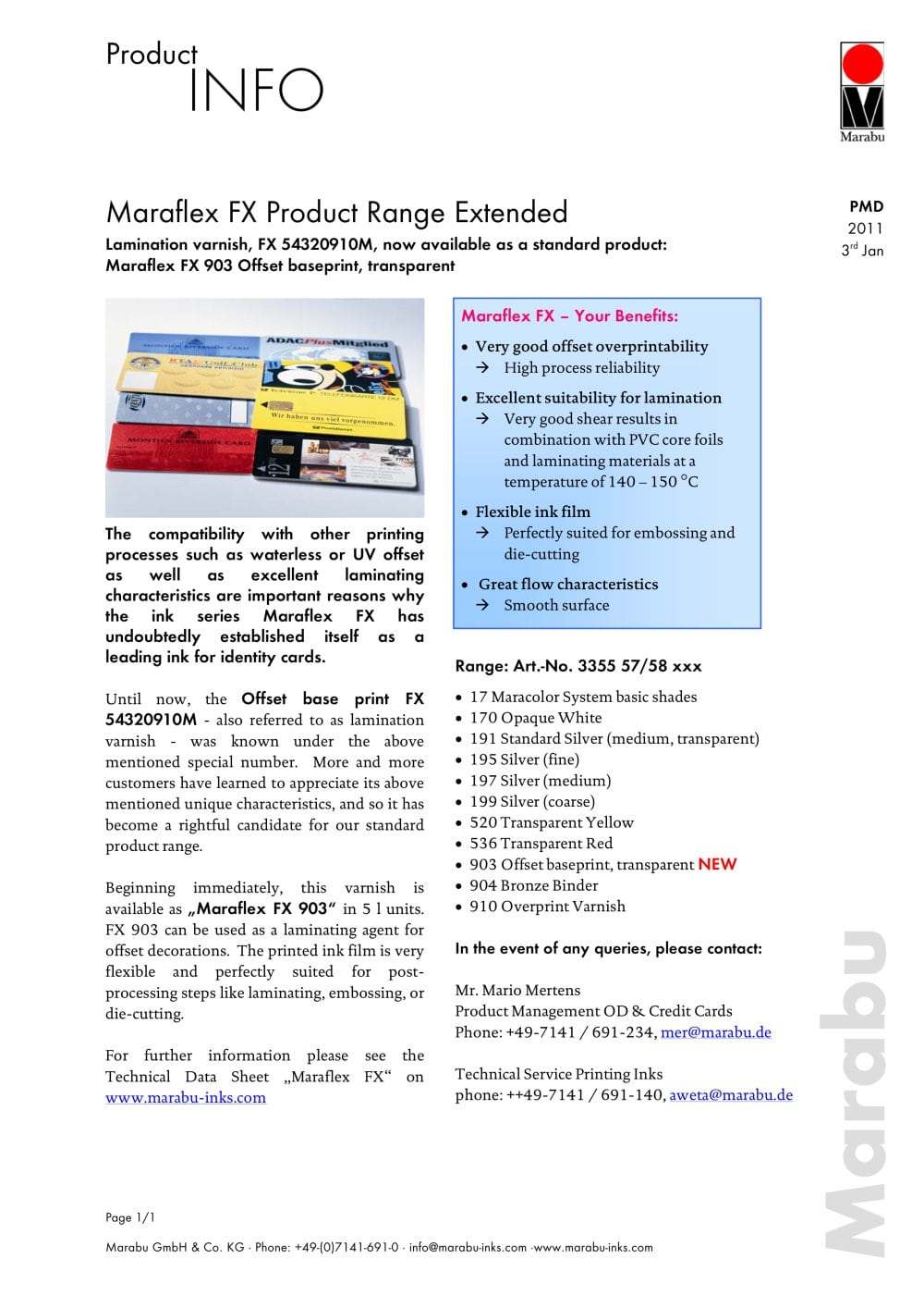 Marabu Gmbh fx 903 offset base - marabu - pdf catalogue | technical