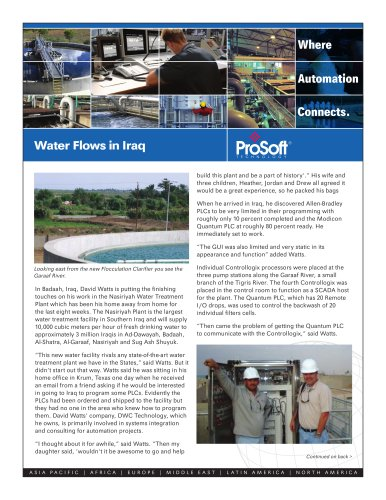 Water Flows in Iraq - PROSOFT - PDF Catalogs | Technical