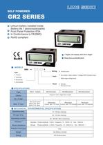 GR2 Series Catalogs (Hourmeter, Minutemeter, Secondmeter)