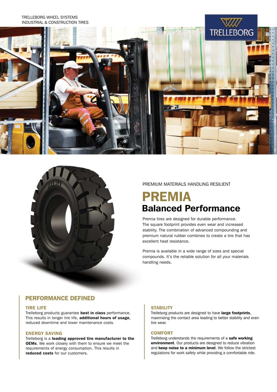 Premia Balanced Performance Trelleborg Wheel Systems Pdf