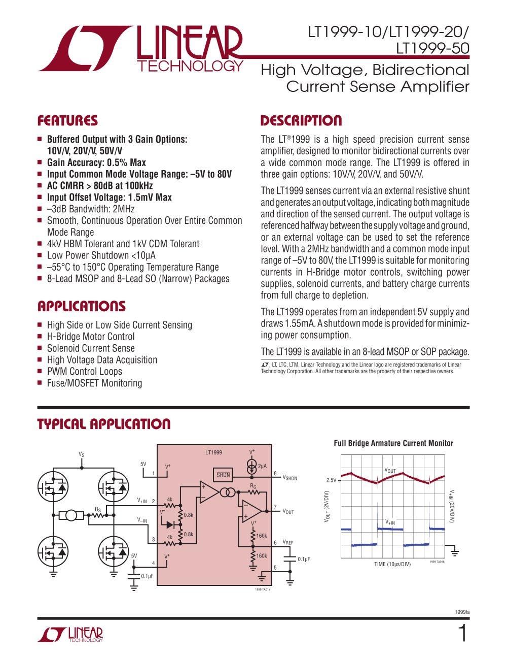 lt1999 10 lt1999 20 lt1999 50 high voltage bidirectional current
