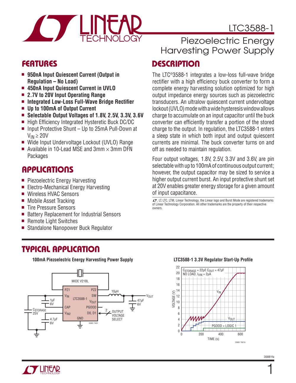 ltc3588 1 piezoelectric energy harvesting power supply linear rh pdf directindustry com