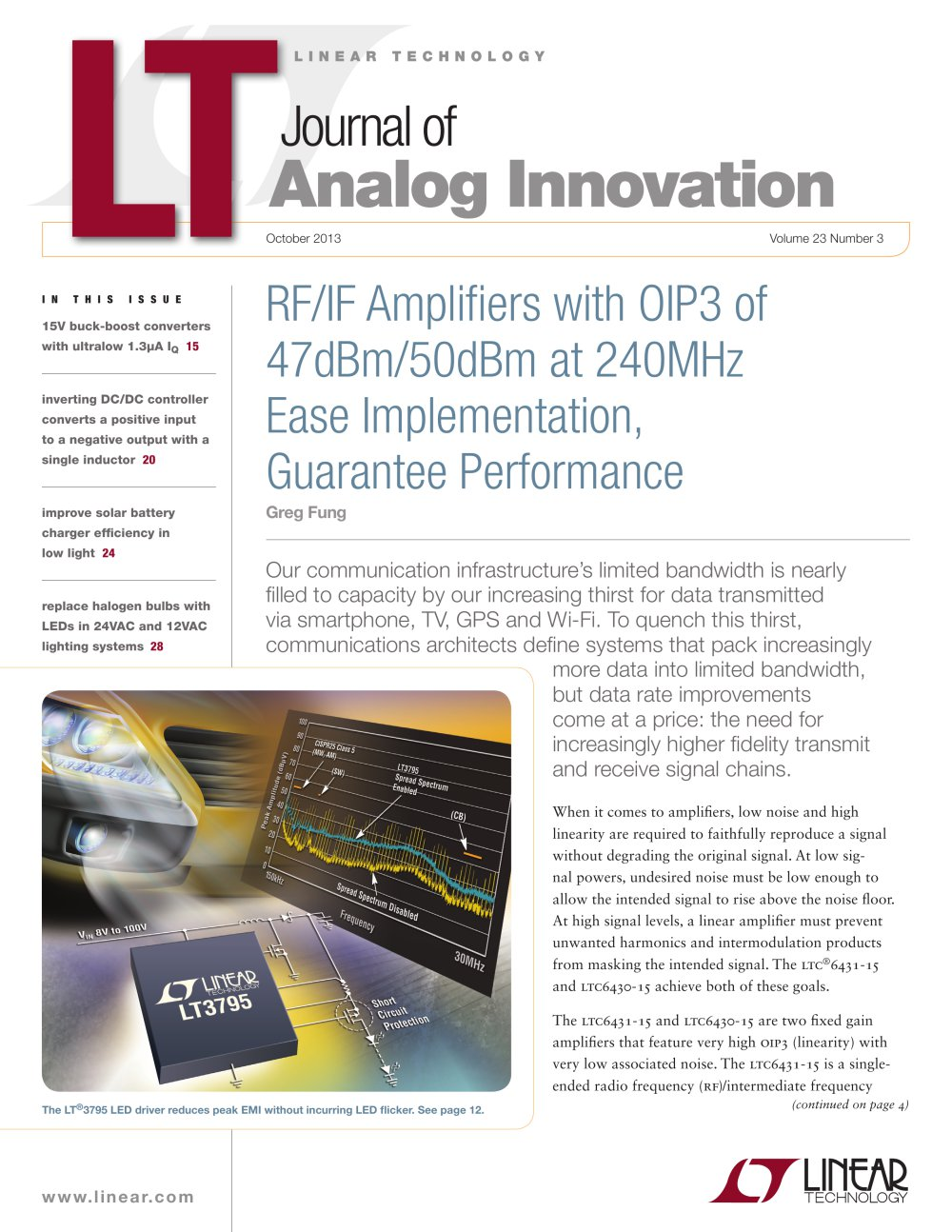 Rf If Amplifiers Linear Technology Pdf Catalogue Technical Synchronous Buckboost Led Driver Controller 1 9 Pages