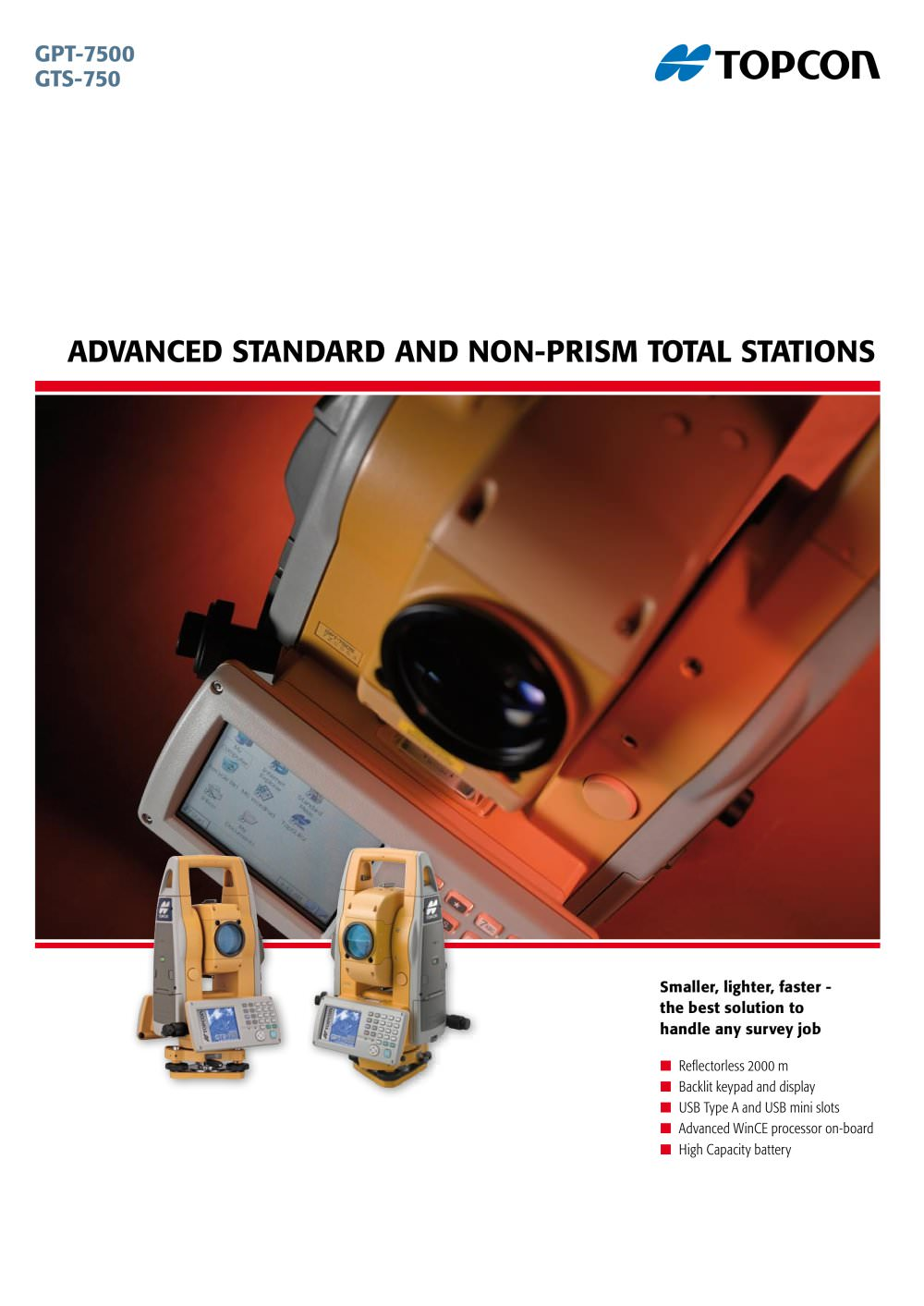 Advanced Standard and Non-Standard Total Stations (GPT-7500, GTS-750) - 1 /  4 Pages