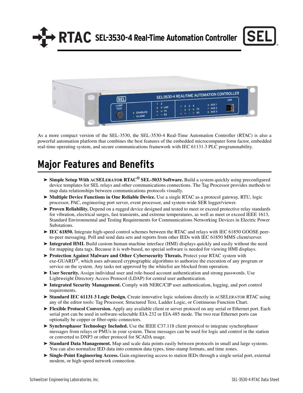 Sel 3530 4 real time automation controller rtac schweitzer sel 3530 4 real time automation controller rtac 1 16 pages ccuart Image collections