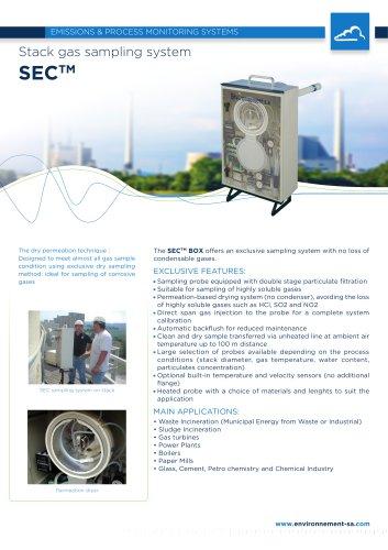 Stack gas sampling system Model SEC - ENVEA (ex