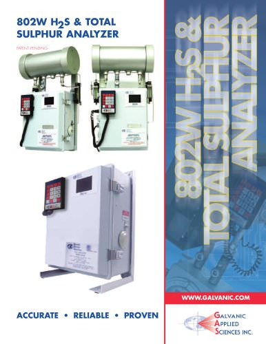 802 W H2S and Total Sulphur Brochure