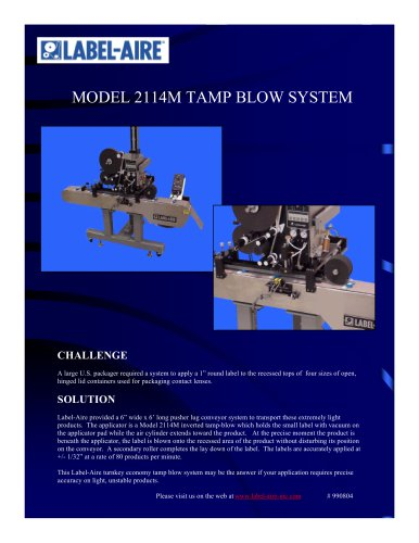2114M Tamp-Blow System