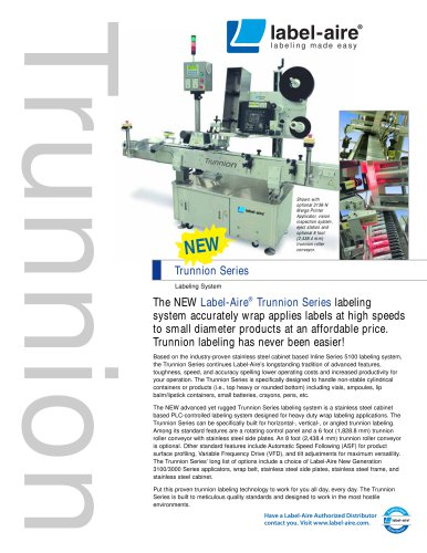 IL 6200 Trunnion Series Labeling System