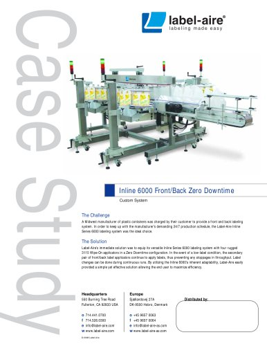 Inline 6000 Front/Back Zero Downtime