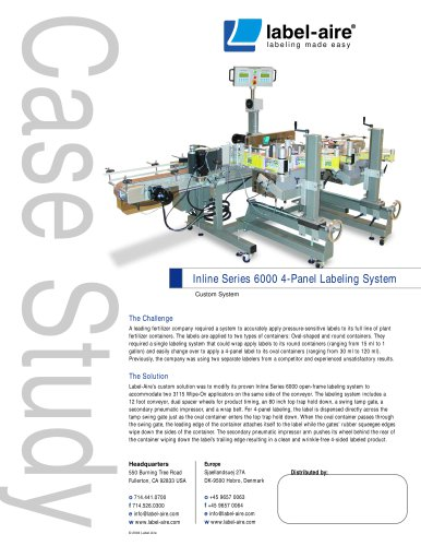 Inline Series 6000 4-Panel Labeling System