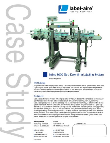 Inline Series 6000 Zero Downtime Labeling System