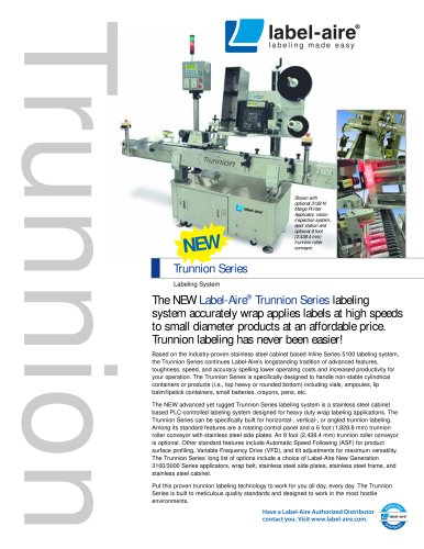 Inline Trunnion Series Labeling System