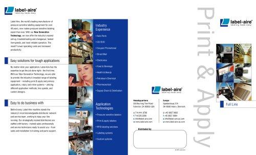 Print & Apply Full Line Foldout