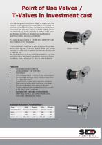Point-of-Use Valves / T-Valves in investment cast
